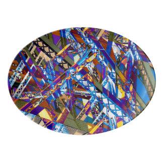 """Construction Chaos 13"""" x 9.25"""" Porcelain Platter"""