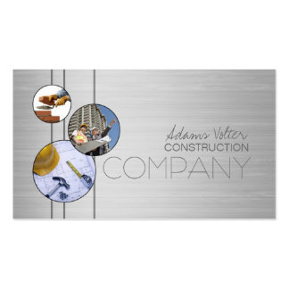 Construction Company Builders Metal Design Card Pack Of Standard Business Cards