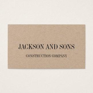 Construction company minimalist business card