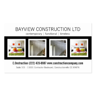 Construction Contracting Building Renovations Pack Of Standard Business Cards