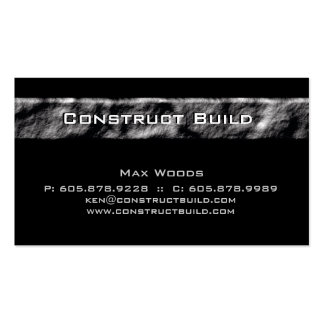 Construction Contractor Business Card Rock