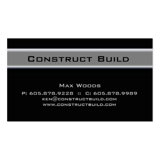 Construction Contractor Metal Business Card 10