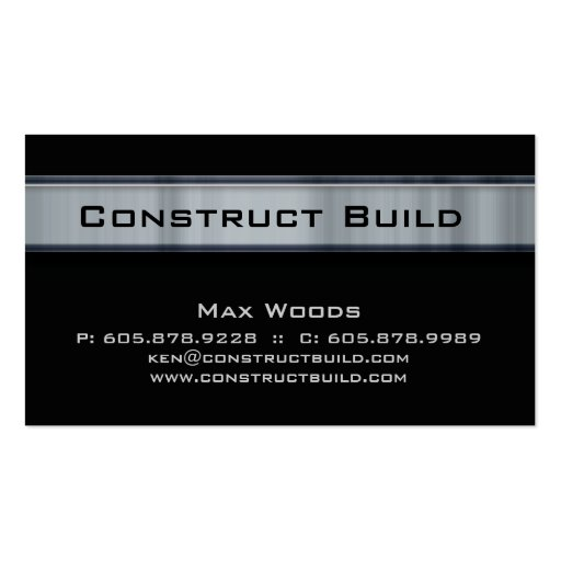 Construction Contractor Metal Business Card 11