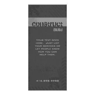 Construction Contractor Rack Card Grunge Gray