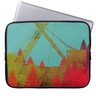 Construction crane Fantasy Art Crawler Crane Laptop Sleeve