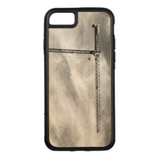 Construction Crane on Natural Wood Carved iPhone 7 Case