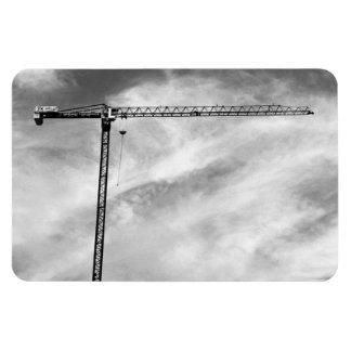 Construction Crane Rectangular Photo Magnet