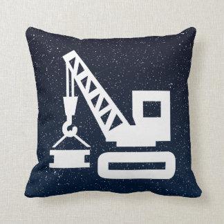 Construction Cranes Minimal Throw Pillow