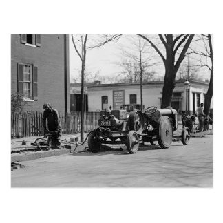 Construction Crew 1925 Postcard