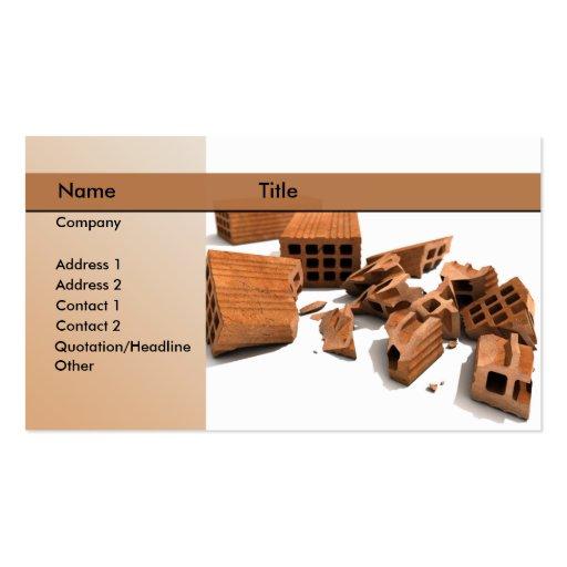construction / demolition business card template