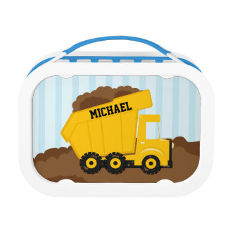 Construction dump truck personalized yubo lunchbox