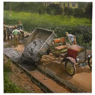 Construction - Dumping made easy 1925 Napkin
