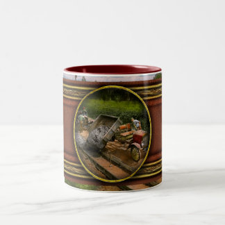 Construction - Dumping made easy 1925 Two-Tone Coffee Mug