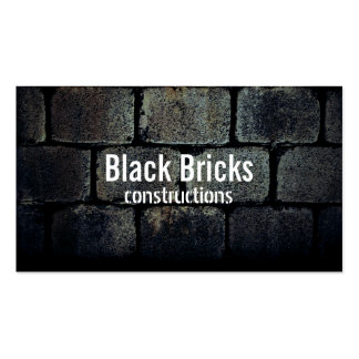 Construction Elegant Dark Bricks Professional Pack Of Standard Business Cards