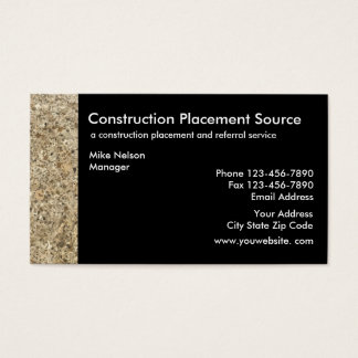 Construction Employment Agency Business Card
