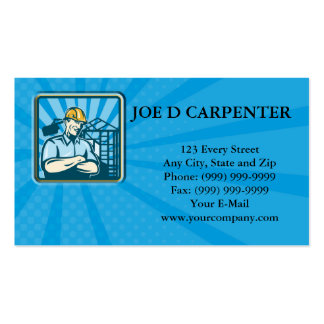 Construction Engineer Foreman Worker Business Card Templates