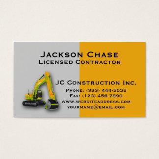 Construction Equipment Backhoe Business Card Templ