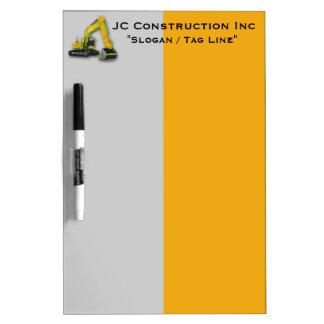 Construction Equipment Backhoe Dry Erase Board