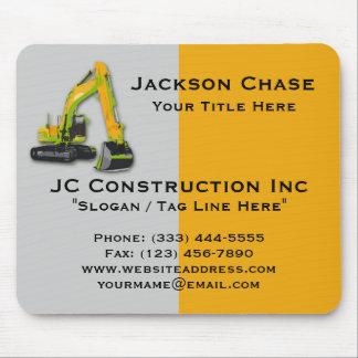Construction Equipment Backhoe Mouse Pad