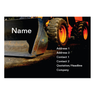 construction equipment pack of chubby business cards