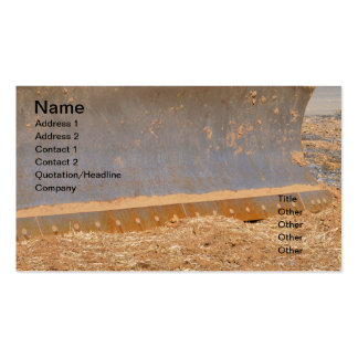 construction equipment pack of standard business cards