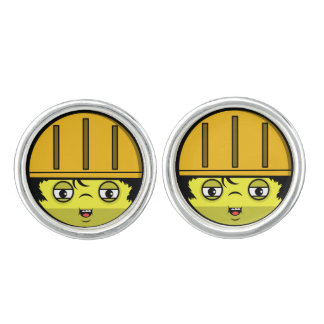 Construction Face Cuff Links