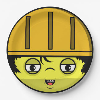 Construction Face Paper Plate