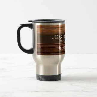 Construction faux Wood Grain Mugs