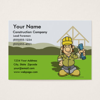 Construction Foreman Business Cards 1