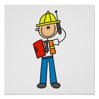 Construction Foreman T-shirts and Gifts Poster