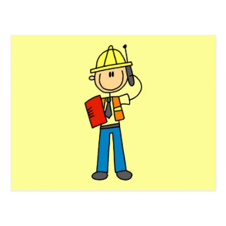 Construction Foreman Tshirts and Gifts Post Cards
