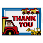 Construction Fun Thank You Note Card
