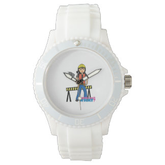 Construction Girl - Medium Wristwatch