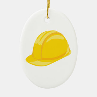 Construction Hat Ceramic Ornament