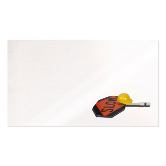 Construction hat stop slow sign pack of standard business cards