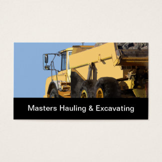 Construction Hauling And Excavating Business Card