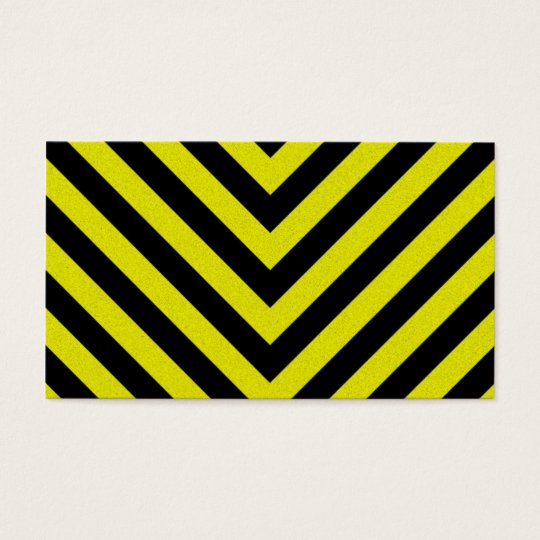 Construction Hazard Stripes Business Card