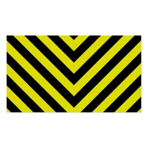 Construction Hazard Stripes Business Cards