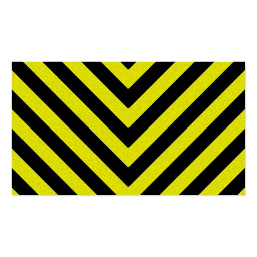 Construction Hazard Stripes Pack Of Standard Business Cards
