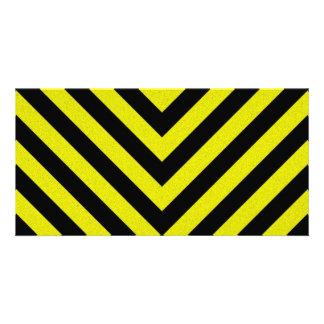 Construction Hazard Stripes Photo Cards