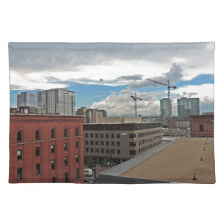 Construction in Downtown Denver Colorado Placemats