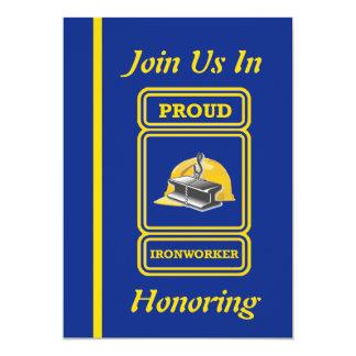 Construction Ironworker Retirement Invitation