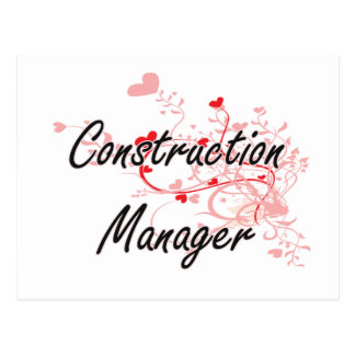 Construction Manager Artistic Job Design with Hear Postcard