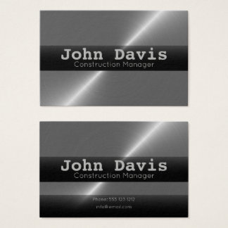 Construction Manager business cards