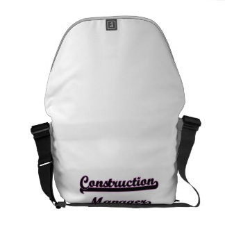 Construction Manager Classic Job Design Messenger Bag