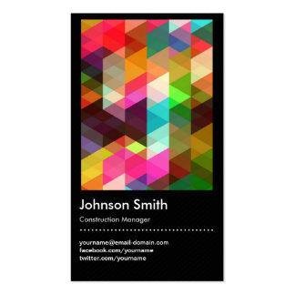 Construction Manager - Colorful Mosaic Pattern Pack Of Standard Business Cards