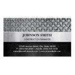 Construction Manager - Diamond Metal Plate Pack Of Standard Business Cards
