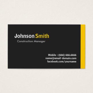 Construction Manager - Modern Minimalist Amber