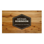 Construction Manager - Modern Wood Grain Look Pack Of Standard Business Cards