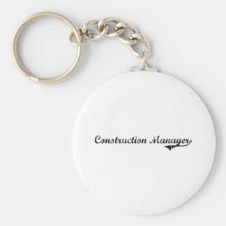 Construction Manager Professional Job Key Chains